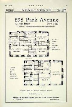 1924 Ad 898 Park Avenue 79th St NY Albert B Ashforth 12 E 44th Duplex Apartment