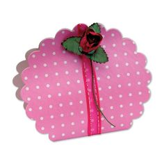 £3.79 Spotted Pink Round Favour Bag 10pk