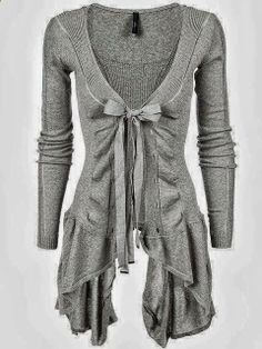 Now THIS is a cardigan! No need to layer frumpy cardis over your maxi dresses and camis.