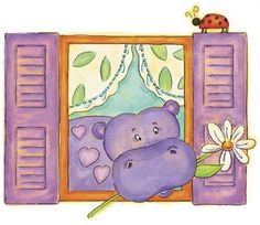 Hippo Peel and Stick Wall Mural #rosenberryrooms