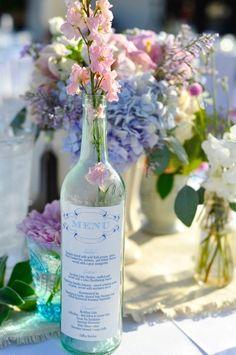 vintage style custom wine bottle label menu by JoiedeViePaperie