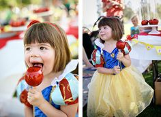 Lots of cute ideas for a Snow White party.