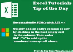 Find more tips and tricks fro Excel here!