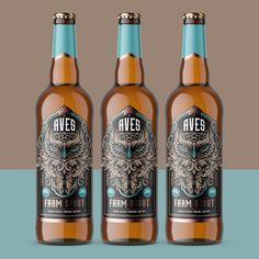 Aves Farm Stout on Packaging of the World - Creative Package Design Gallery Design Agency, Branding Design, Logo Design, Label Design, Package Design, Digital Printer, Article Design, Liquor Bottles, Beer Label