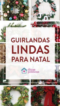Guirlandas para decoração da casa no Natal - Dicas Práticas Button Wreath, Button Ornaments, Felt Cat, Door Wreaths, Hydrangea, Christmas Wreaths, Etsy, Crafty, Holiday Decor