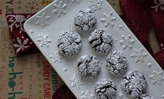 Chocolate Crinkle Cookies are decadent. A rich chocolate cookie with plenty of crinkles and covered with powdered sugar. This cookie suggests winter snowballs and says happy holidays. Chocolate Crinkle Cookies, Chocolate Crinkles, Chocolate Cookie Recipes, Chocolate Flavors, Best Christmas Cookie Recipe, Holiday Cookie Recipes, Holiday Cookies, Holiday Baking, Decadent Chocolate