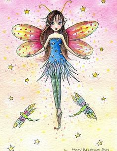Fairy art by Molly Harrison Speckled Pink Fairy Paintings, Fairy Coloring, Vintage Fairies, Beautiful Fairies, Clip Art, Fairy Art, Art Portfolio, Faeries, Watercolor Art