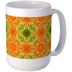 pattern Orange Mugs
