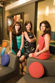 """""""We did a couple of things in 2010 that were completely transformational,"""" says CEO Bush, center, with founders Katie Rodan, left and Kathy ..."""