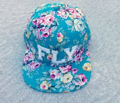 FLY Floral Snapback by FlowerSourDiesel on Etsy, $39.00
