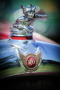 1929 Reo Flying Cloud Master Sport Roadster Hood Ornament by Jill Reger..Re- pin brought to you by #lLowcostcarIns. at #HouseofInsurance #Eugene,Oregon