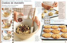 Passo a passo para as crianças prepararem cookies de chocolate