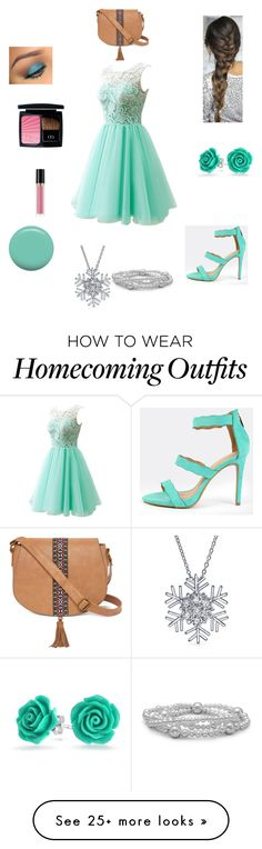 """""""First Date"""" by www-nyny on Polyvore featuring Jin Soon, Christian Dior, Revlon, Bling Jewelry and T-shirt & Jeans"""