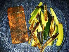 Pensive Paleo: Paleo Pen Pals January 2013 - Basil Salmon with Garlic Zucchini Fries