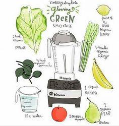Frullato detox: la ricetta dello smoothie verde per dimagrire  - 2 tazze d'acqua 1/2 mazzo di spinaci 1 cespo di lattuga romana il succo di 1/2 limone 3 o 4 gambi di sedano 1 banana 1 pera 1 mela