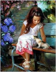 Painting by artist Vladimir Volegov. Greg Olsen Art, Images D'art, Illustration Art, Illustrations, Beautiful Paintings, Oeuvre D'art, Belle Photo, Art Paintings, Love Art