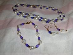 """""""Amethyst Glass Rice"""" 3 piece set --- $5.00 + $3.00 shipping in the USA   LIMITED QUANITY"""