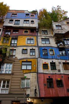Hunderwasser's architecture, Vienna