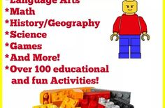 Homeschooling with LEGO - Resources & Activities - A Spectacled Owl Science Games, Educational Games, Legos, Geography, Fun Activities, Curriculum, Homeschooling, The 100, Math
