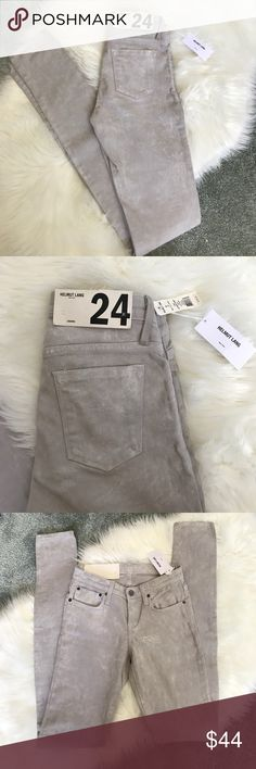 Helmut Lang Legging Skinny Jeans Distressed pigment, color: White Ash. New with tags // street chic // 80's // 90's // rocker chic // blogger style Helmut Lang Jeans Skinny