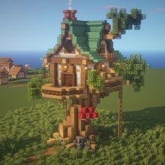 Minecraft Starter House, Minecraft House Plans, Cute Minecraft Houses, Minecraft Projects, Minecraft Crafts, Minecraft Ideas, Minecraft Images, Minecraft Designs, Minecraft Survival
