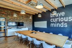 Cool Cape Town Office Brave Curious Minds - Boardroom at Quirks in South Africa.Brave Curious Minds - Boardroom at Quirks in South Africa. Office Space Decor, Creative Office Space, Office Space Design, Modern Office Design, Office Workspace, Office Walls, Office Interior Design, Office Interiors, Home Interior