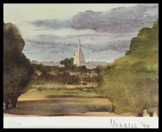 Hrh Prince Charles, The Prince Of Wales Landscape Print - Tetbury Church - Signed Lithograph Royal Art Royal Heritagecotswolds British 1998 Academic Landscape Prints, Contemporary Landscape, Royal Family History, Thomas Moran, Royal Art, Church Signs, Impressionist Landscape, Philadelphia Museum Of Art, Prince Of Wales