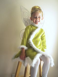 Tinkerbell jacket for a cold Halloween night. Don't know if i can make, but it never hurts to try!