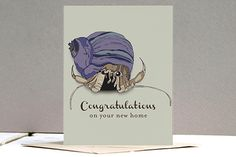 Hermit Crab New Home Card