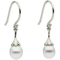 White South Sea Keshi Earrings ($345) ❤ liked on Polyvore featuring jewelry, earrings, pearl jewelry, earring jewelry, 14k jewelry, 14 karat gold jewelry and 14k pearl earrings