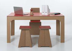 cardboard furniture via #decoratrix