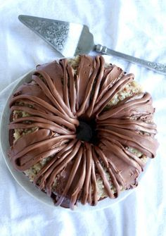 This is the Best German Chocolate Bundt Cake ever! Made with chocolate cream cheese frosting!