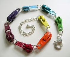 rainbow vintage zipper slide bracelet - © amalia versaci 2009 by Amalia Versaci, via Flickr