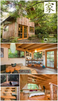 Japanese Forest House! A small unique cabin made almost exclusively from salvaged materials with traditional Japanese design influences in Nehalem, Oregon.