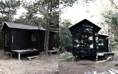 Tiny wood cabin, designed by Paris studio SEPTEMBRE. Sweden.
