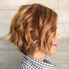 messy+wavy+bob+hairstyle