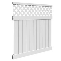 Freedom Ready-to-assemble Freeport White Lattice-top Semi-privacy Vinyl Fence…