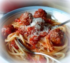 Spaghetti and Meatballsfrom The English Kitchen