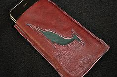 Water Hardened Leather Narwhal Cell Phone Case by tickletrunk, $20.00