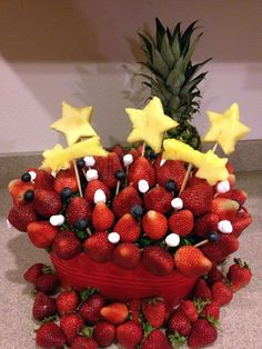 Have you ever looked at an Edible Arrangement and wished you could do that yourself! Well, now you can! Here are three great fruit bouquets you can make for any holiday or as a centerpiece at a party or BBQ, or as a gift for someone you care about...