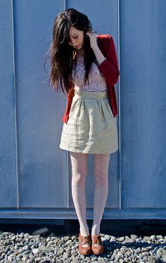 Gold linen skirt | Flickr - Photo Sharing!