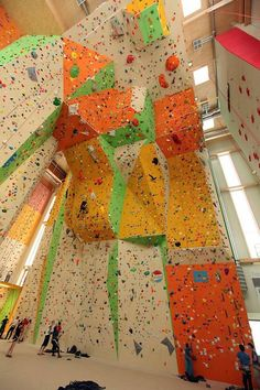 Dang. Now THAT'S a climbing wall.