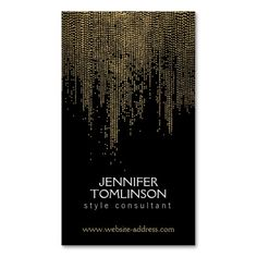 Elegant Golden Dot Pattern on Black Business Card Template. This great business card design is available for customization. All text style, colors, sizes can be modified to fit your needs. Just click the image to learn more! Hairstylist Business Cards, Makeup Artist Business Cards, Black Business Card, Business Card Design, Business Ideas, Bussiness Card, Gold Confetti, Personalized T Shirts, Card Templates