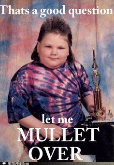 funny mullet kid