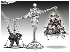 """SCALE of INJUSTICE ***  """"Don't Pay For Gasoline Any Longer! => http://patriotproducts.org/go/Electricity4gas/  ***  Posted on December 12, 2014, 9:30 am from http://www.cagle.com/2014/12/scale-of-injustice/"""