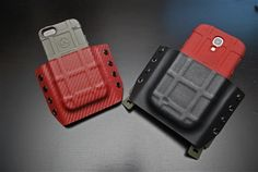 iPhone kydex Phone Holster, Kydex Holster, Leather Holster, Ar Build, Kydex Sheath, Military Equipment, Diy Arts And Crafts, Bang Bang, Tactical Gear