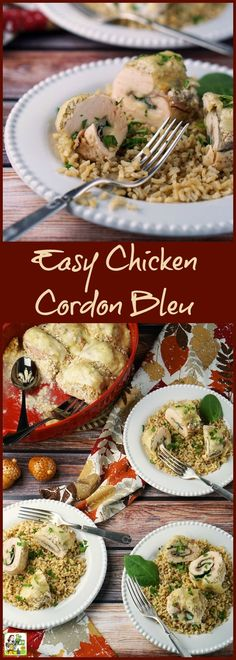 #ad Making this Easy Chicken Cordon Bleu is quicker than you think! This easy one pot chicken recipe can be make gluten free. Click to get this easy chicken weeknight dinner recipe. #RealCheesePeople @sargentocheese