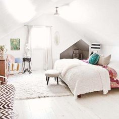 Get The Look: A Bright Attic Bedroom.