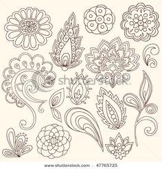 Hand-Drawn Abstract Henna