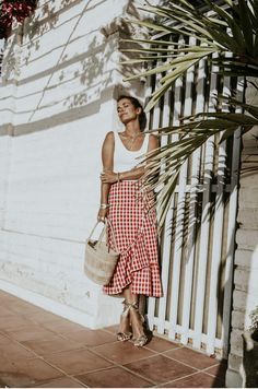 Collage vintage blogger Zara - skirt, sandals - chloe